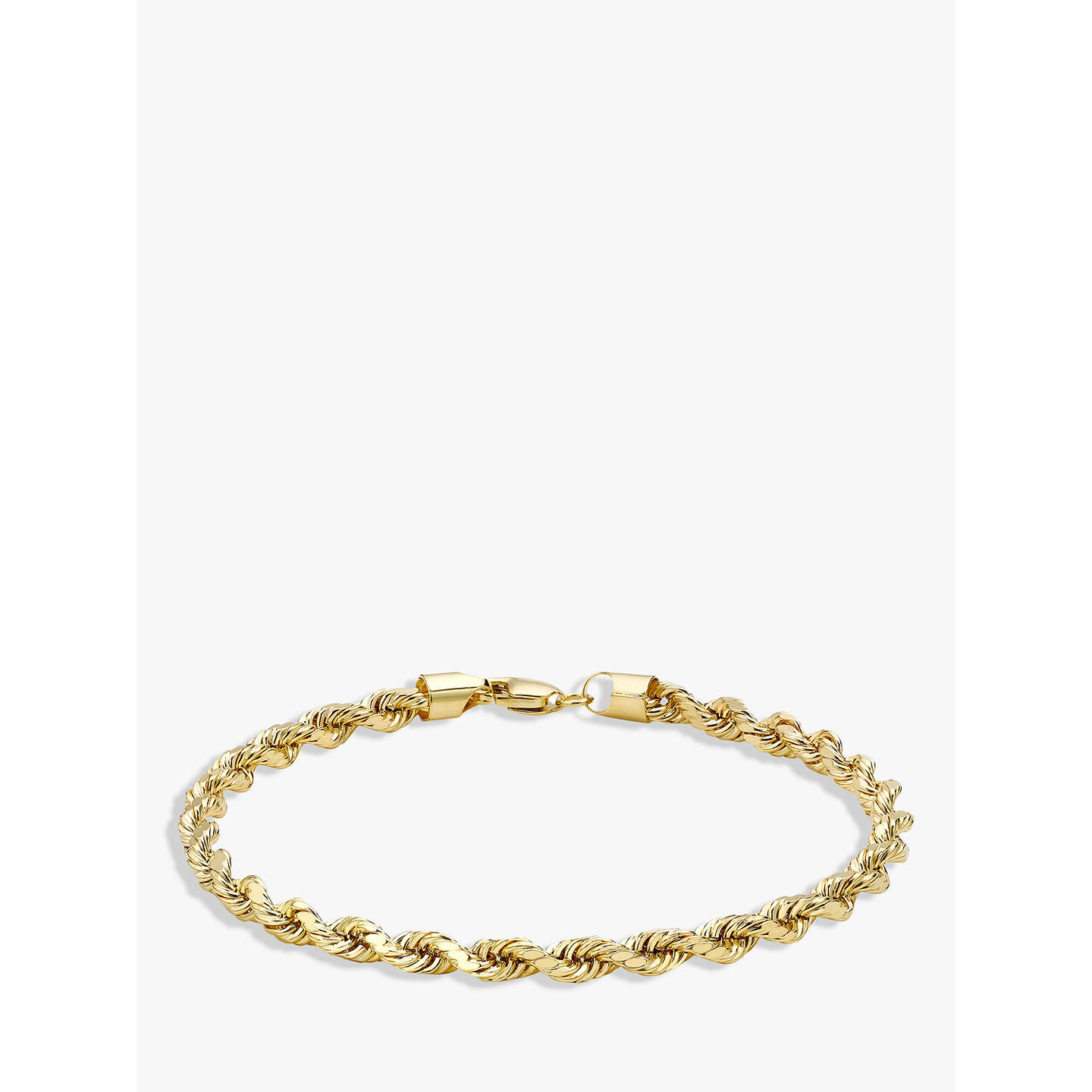 cut gold solid p chain rope bracelet diamond fine c itm anklet rdcl and