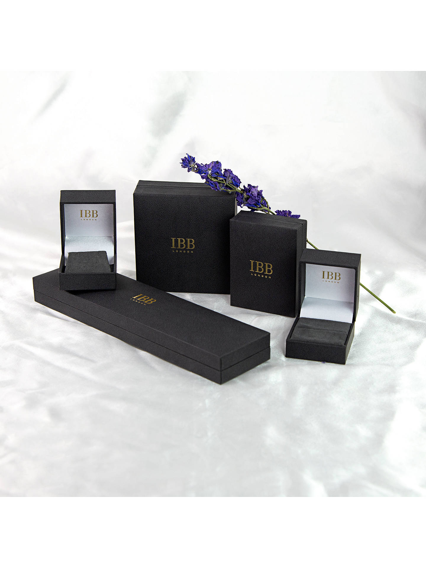 BuyIBB 9ct Gold Cubic Zirconia Bar Drop Slider Pendant, Gold Online at johnlewis.com