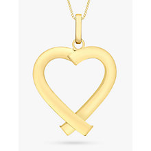 Buy IBB 9ct Yellow Gold Triangular Tube Heart Pendant, Gold Online at johnlewis.com