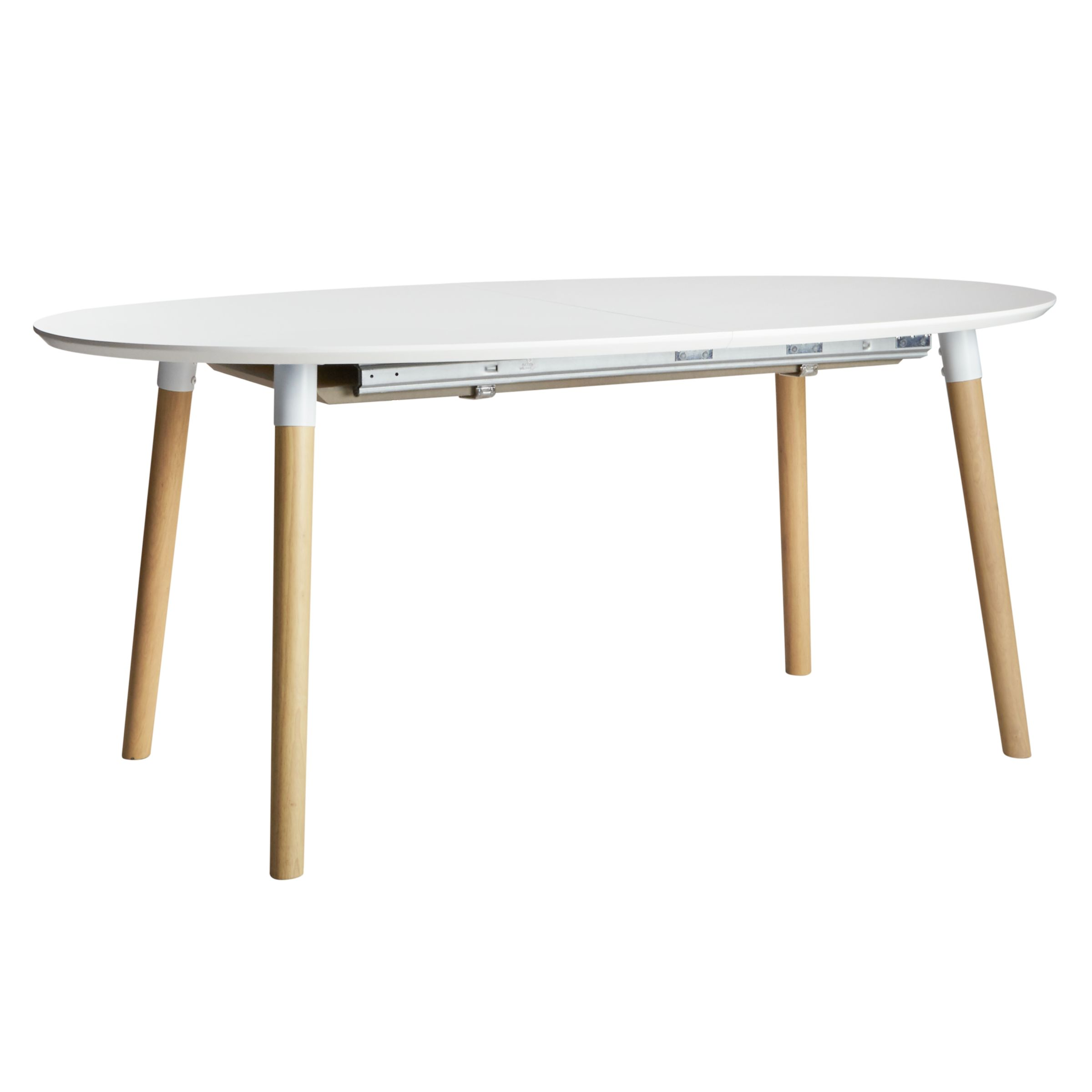 John Lewis Belina 6-8 Seater Extending Dining Table, White