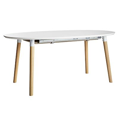 John Lewis Belina 6-8 Seater Extending Dining Table, White