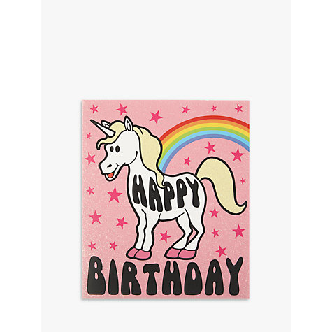 buy candy floss unicorn birthday card  john lewis, Birthday card