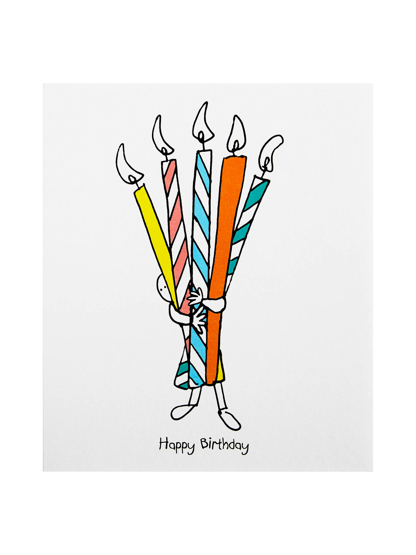 Buy Artfolio Giant Candles For You Birthday Card Online At Johnlewis
