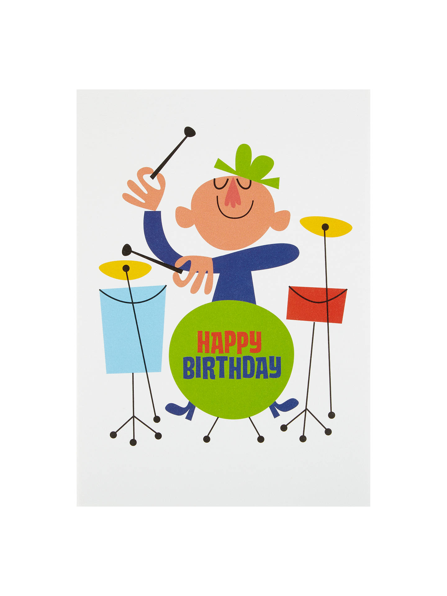 Buy Art File Drummer Birthday Card Online At Johnlewis