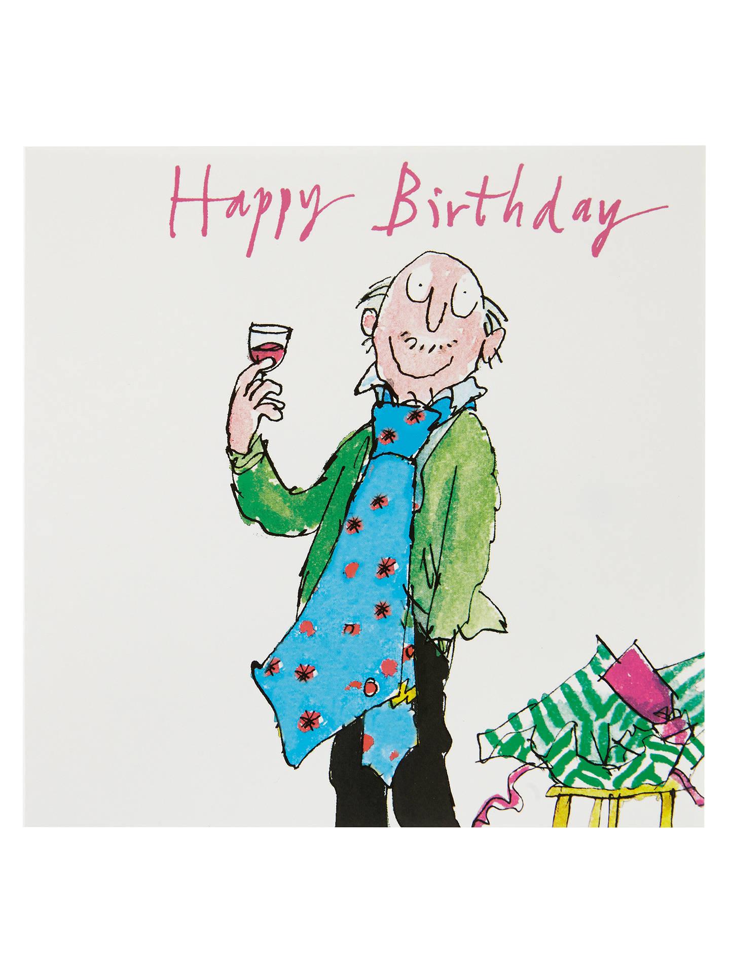 Buy Woodmansterne Man In Giant Tie Birthday Card Online At Johnlewis
