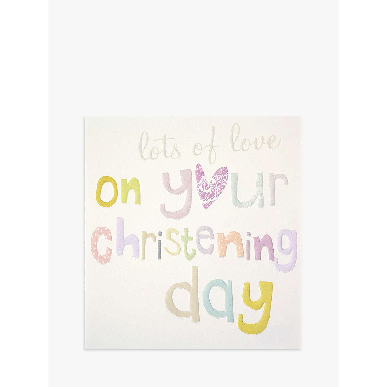 Caroline Gardner On Your Christening Greeting Card At John Lewis