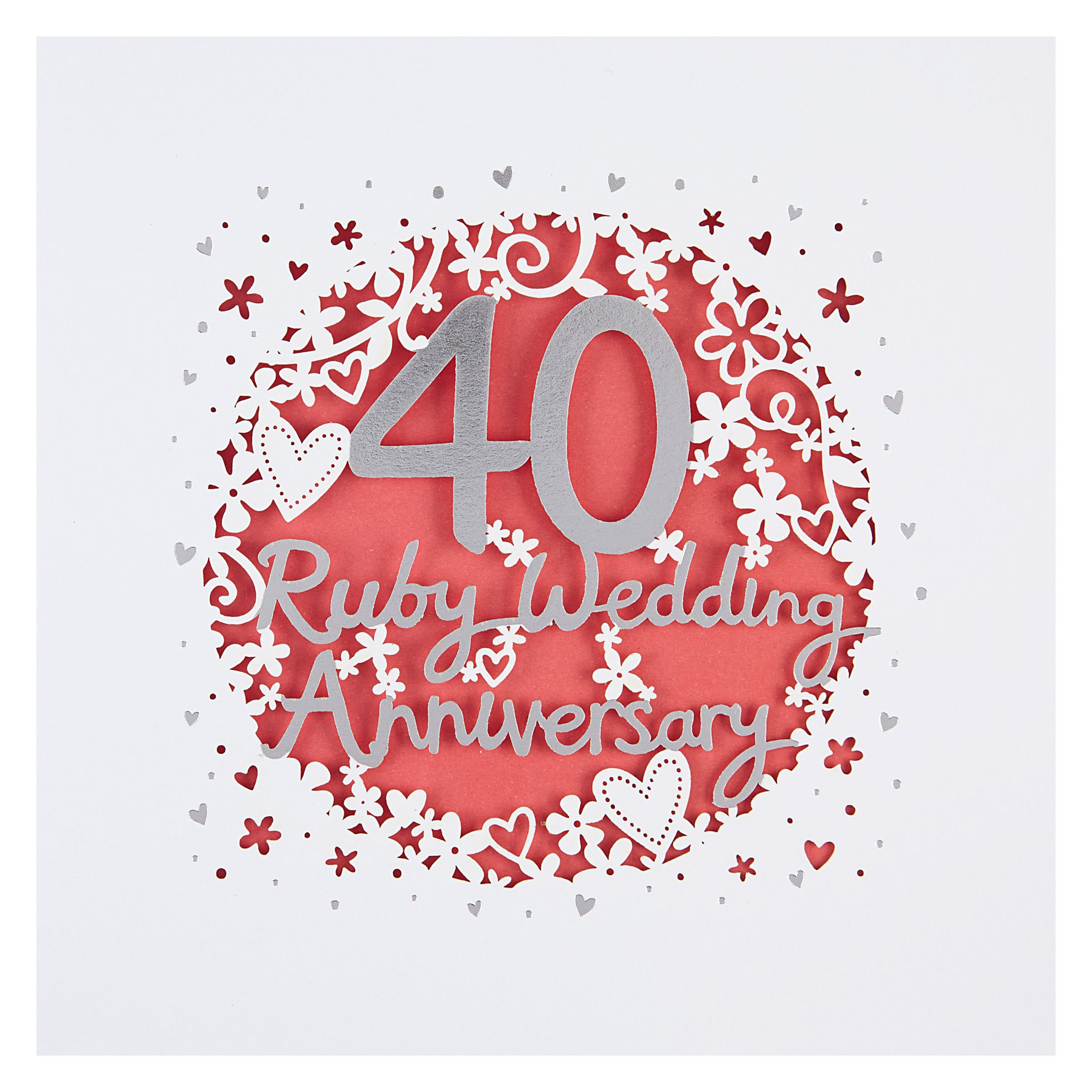 Paperlink 40th Wedding Anniversary Card At John Lewis Partners