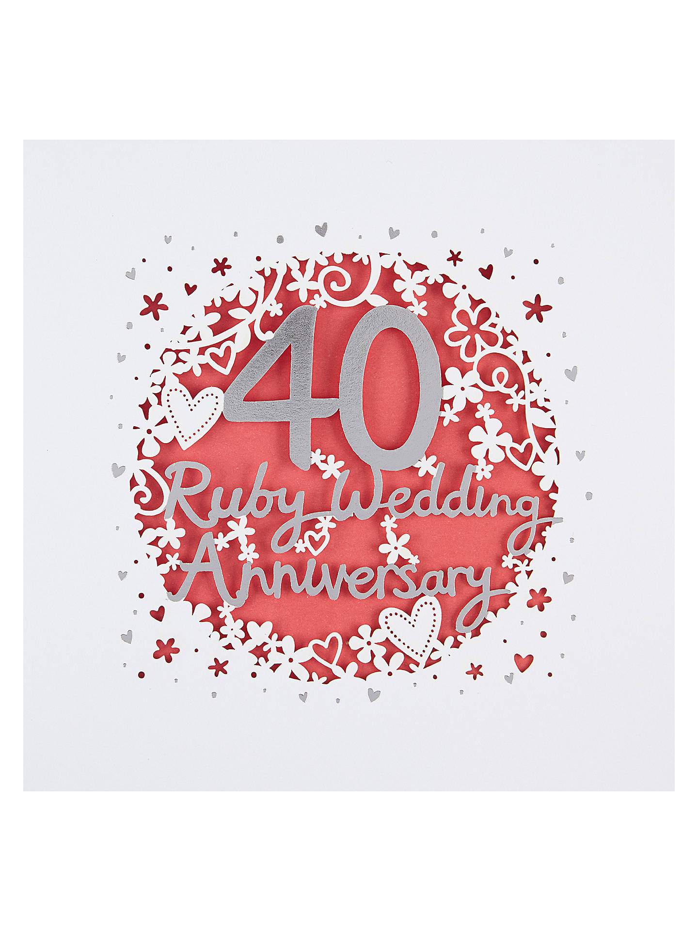 paperlink 40th wedding anniversary card at john lewis. Black Bedroom Furniture Sets. Home Design Ideas