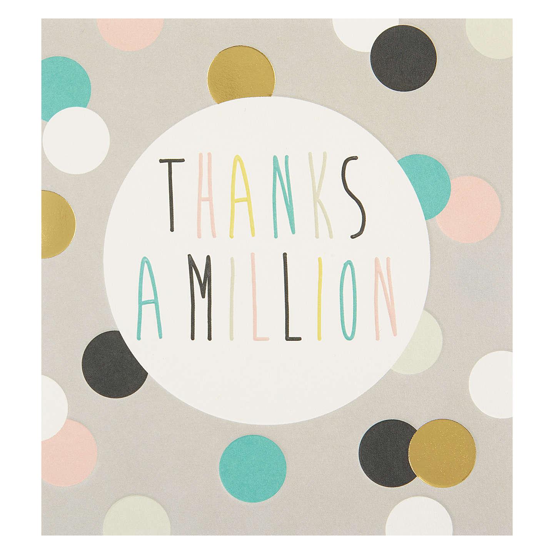 Caroline Gardner Thanks A Million Greeting Card At John Lewis