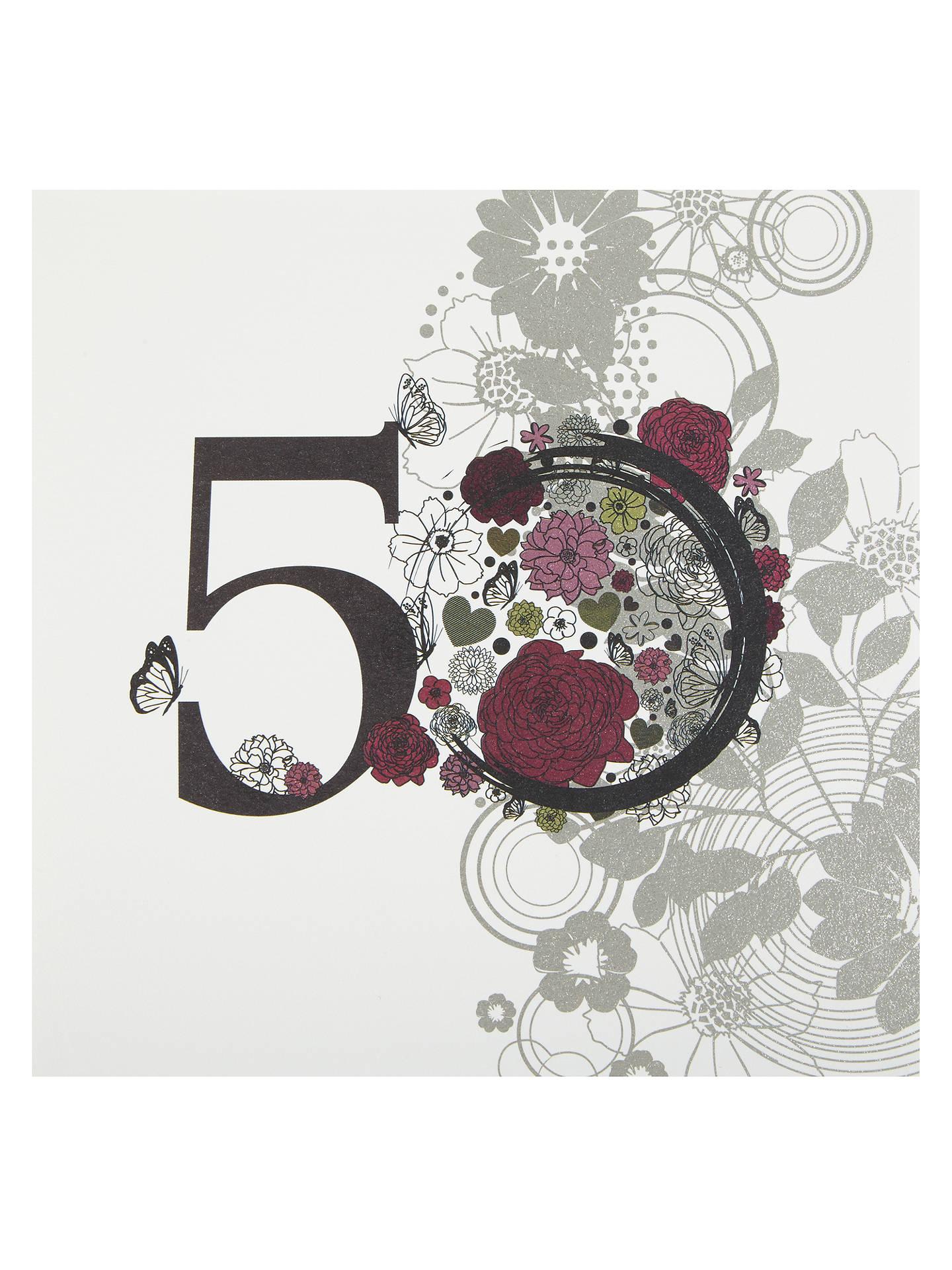 Buy Twizler Vintage 50th Birthday Card Online At Johnlewis