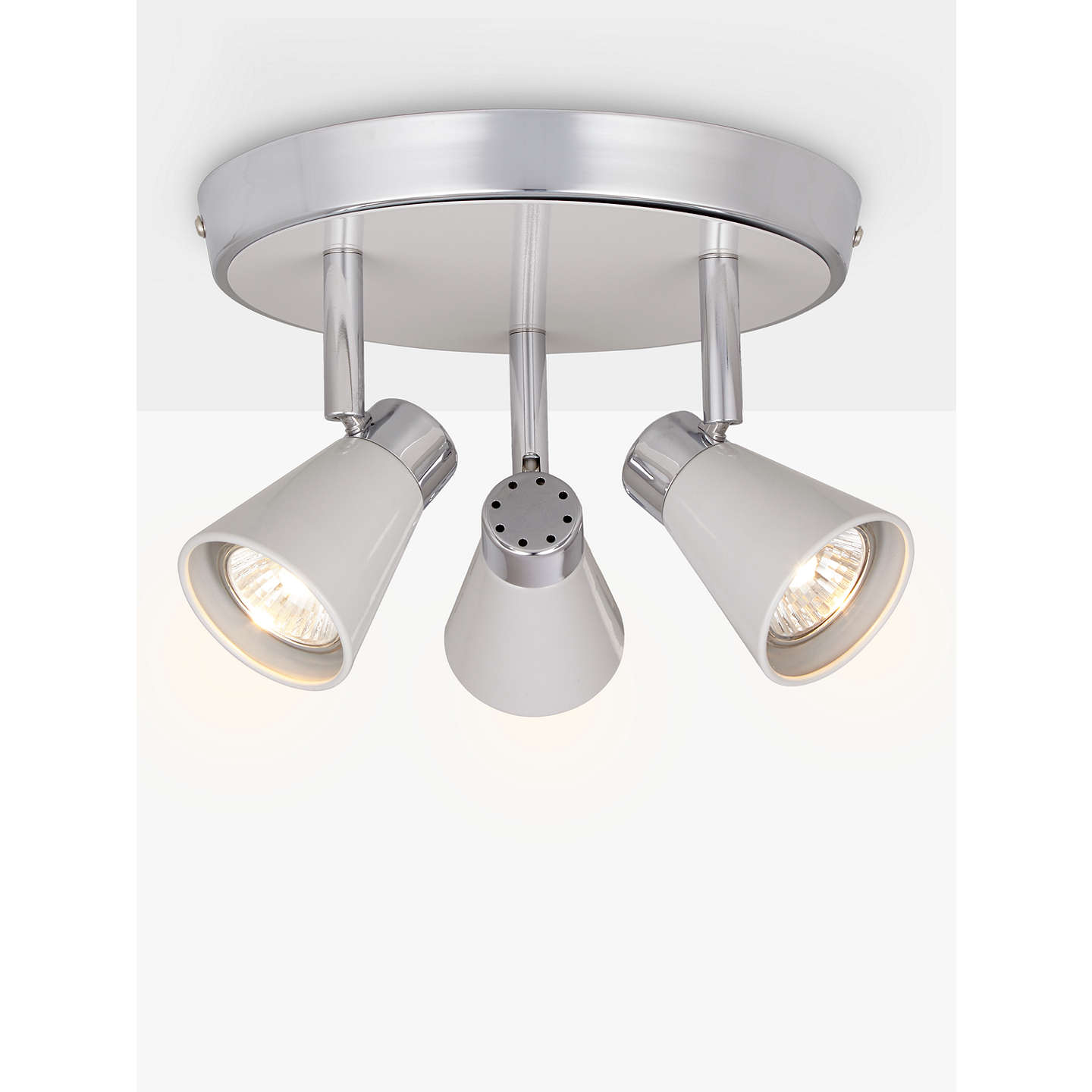 john lewis kitchen lights lewis logan gu10 led spotlight plate 3 light at 4911