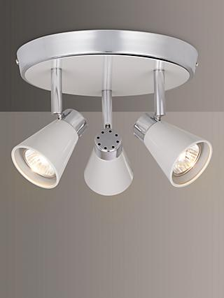 John Lewis & Partners Logan GU10 LED 3 Spotlight Ceiling Plate