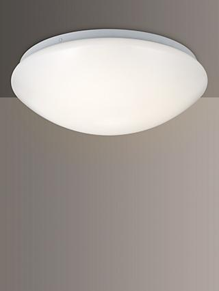 John Lewis & Partners Saint LED Flush Bathroom Light, Opal