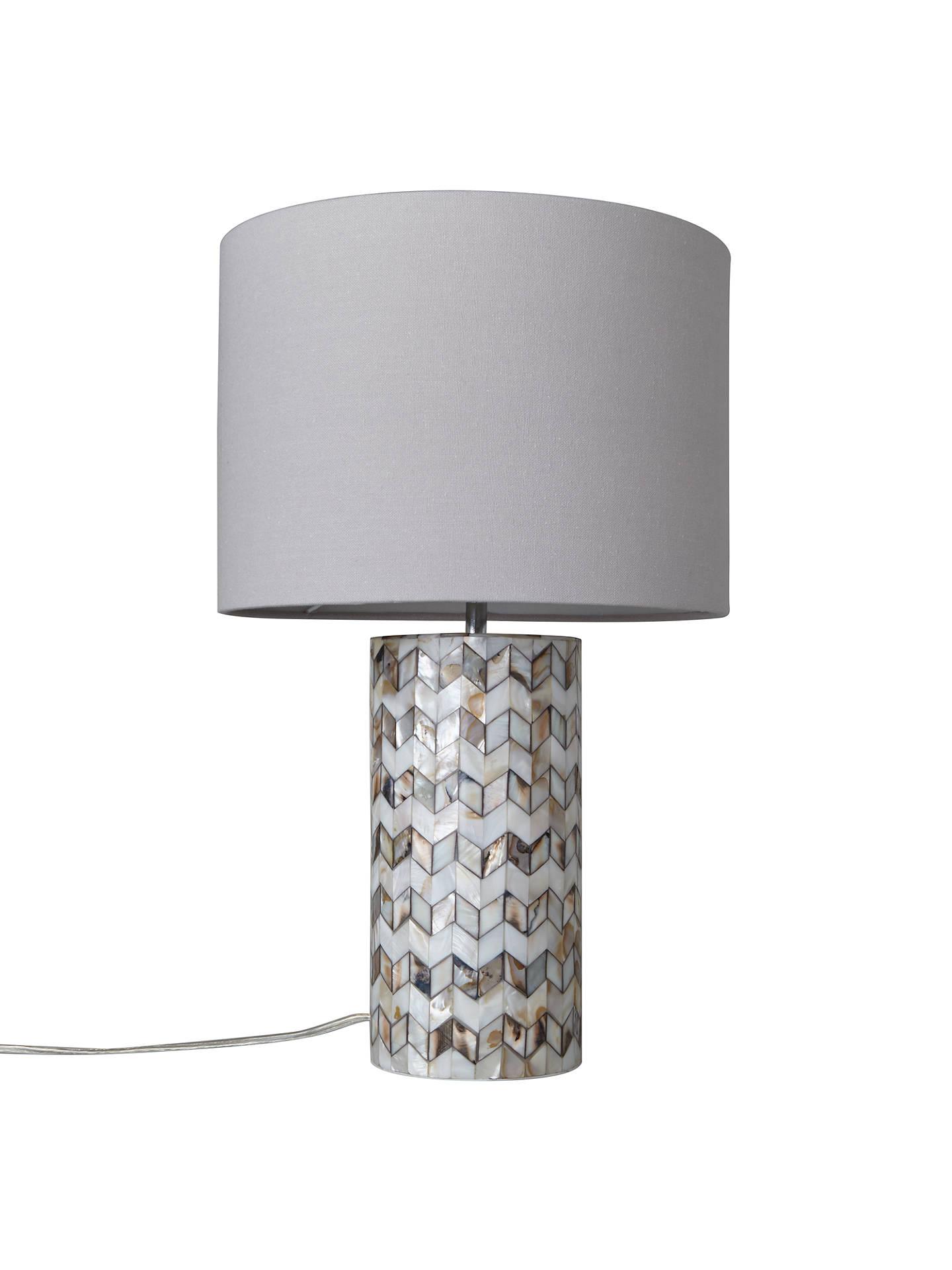 John Lewis Amp Partners Zig Zag Shell Table Lamp At John