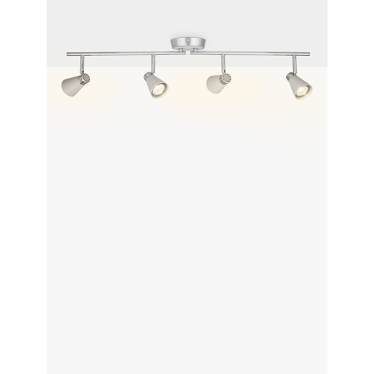 John Lewis Logan Gu10 Led 4 Bar Spotlight Online At Johnlewis
