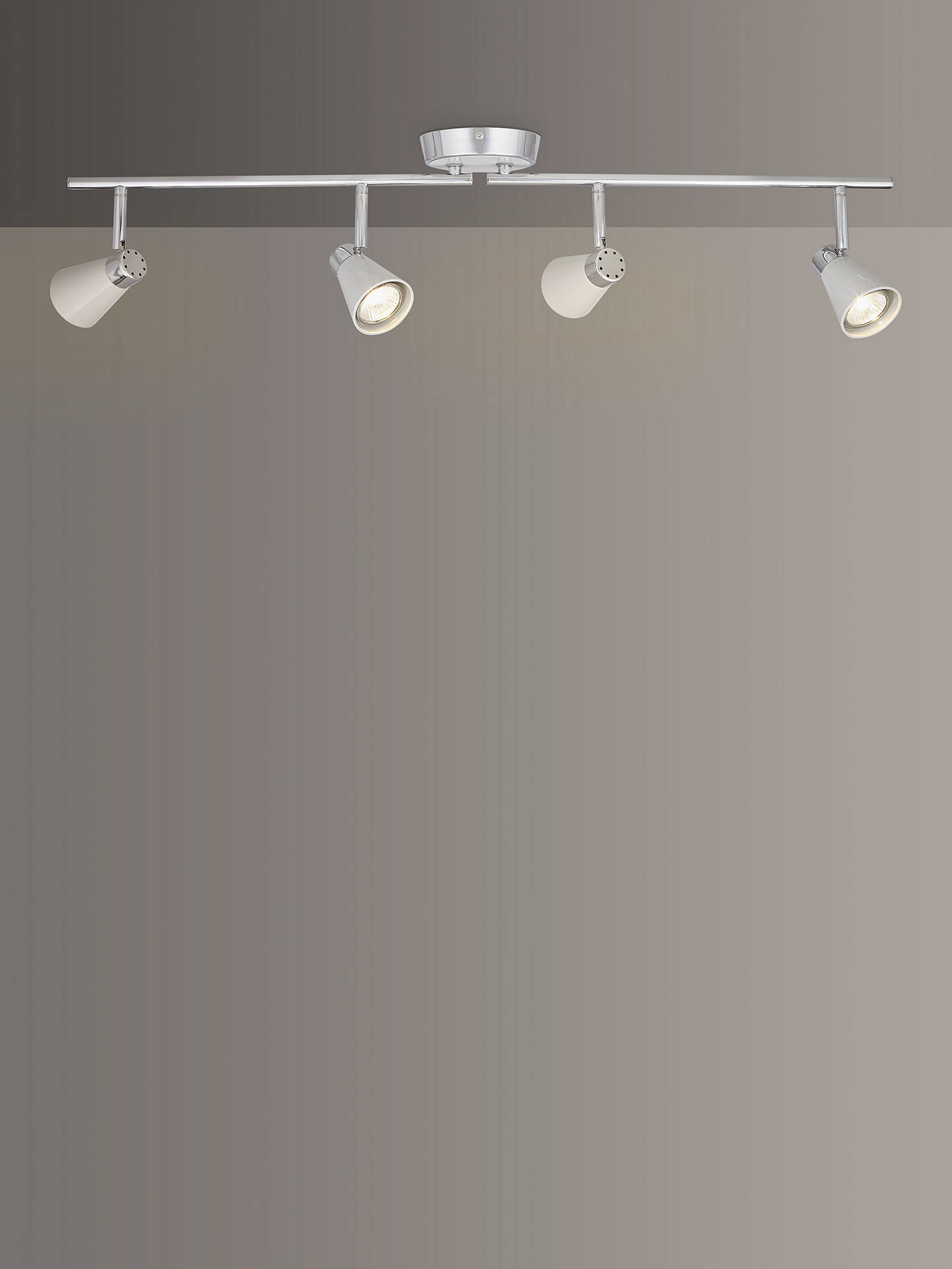BuyJohn Lewis & Partners Logan GU10 LED 4 Spotlight Ceiling Bar, Grey Online at johnlewis.com