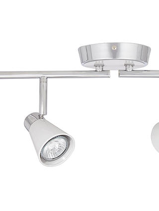 Buy John Lewis & Partners Logan GU10 LED 4 Spotlight Ceiling Bar, Grey Online at johnlewis.com