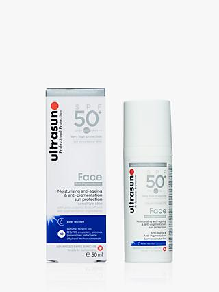 Ultrasun SPF50+ Anti-Ageing Facial Sun Cream, 50ml