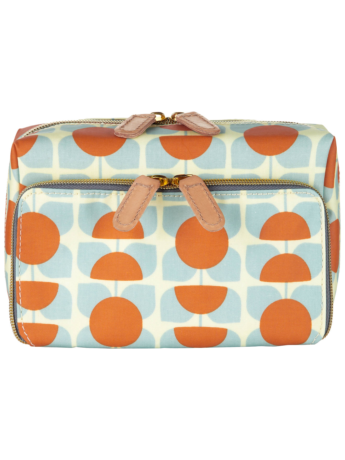 Orla Kiely Square Flower Orange Blue Wash Bag At John