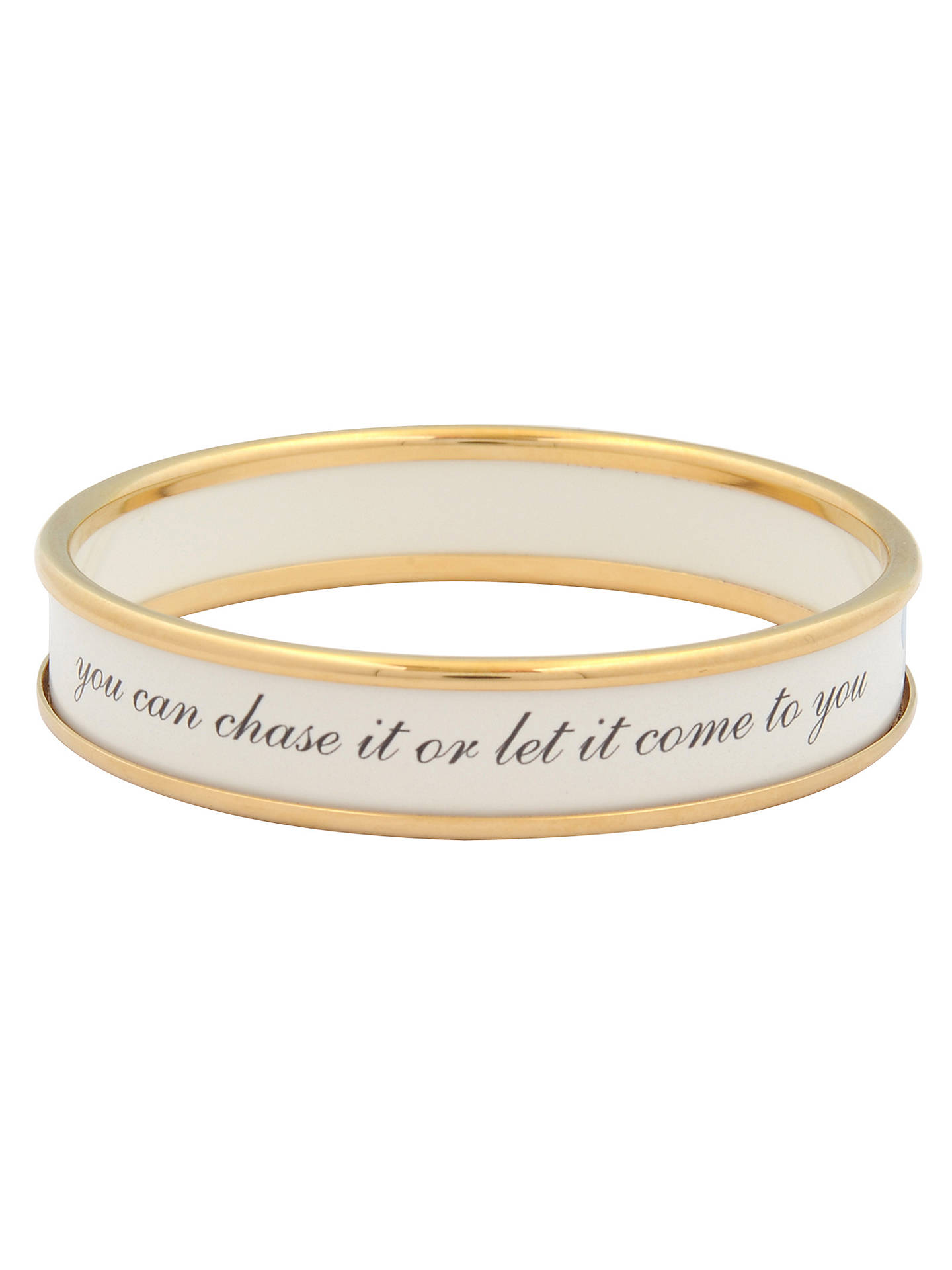 BuyHalcyon Days Life Is Like A Butterfly Enamel Bangle, Medium, White/Gold Online at johnlewis.com