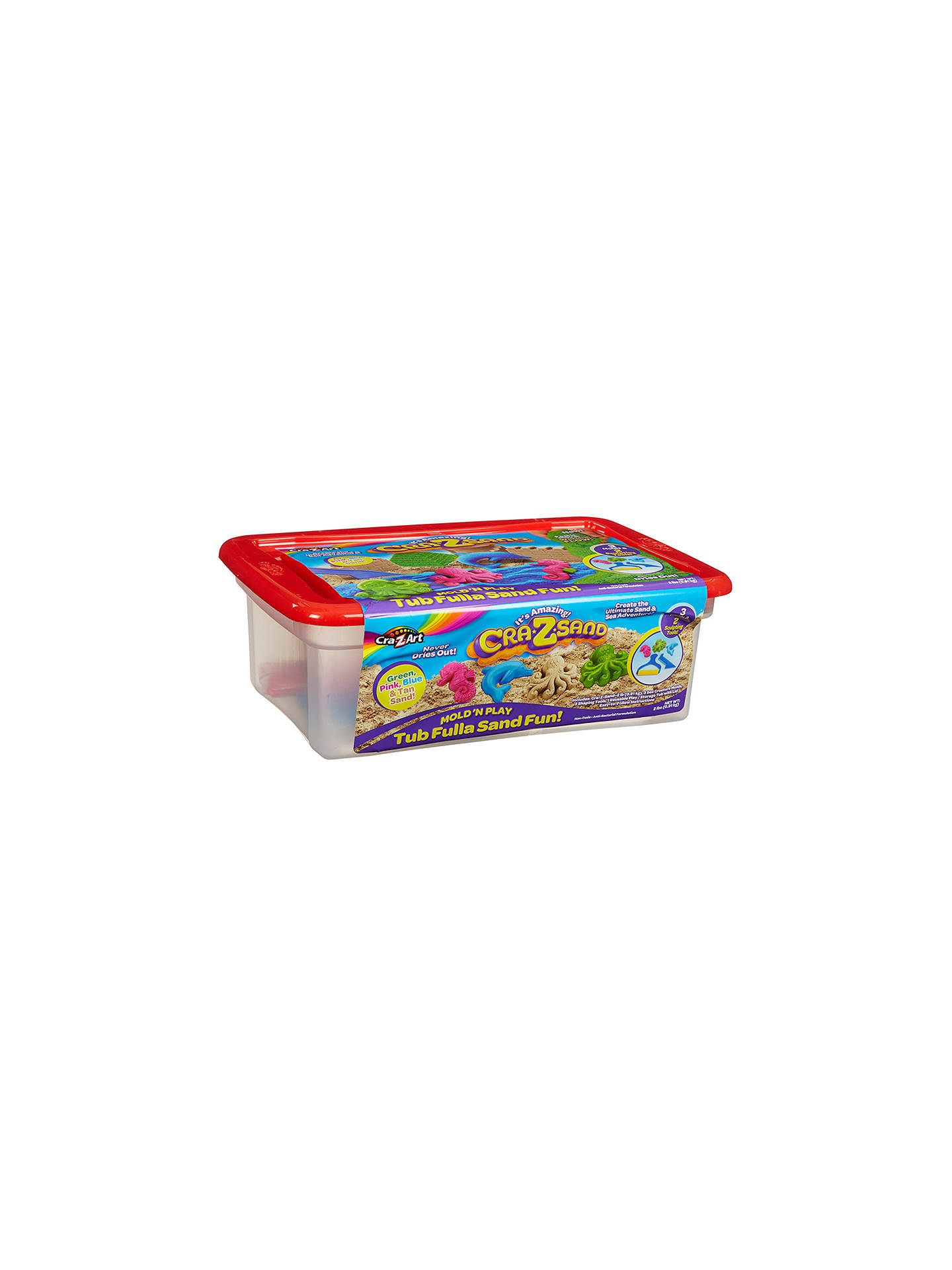 MOULD AND PLAY BROWN SAND CRAZART CRAZSAND DELUXE PLAY SET box wear SHAPE