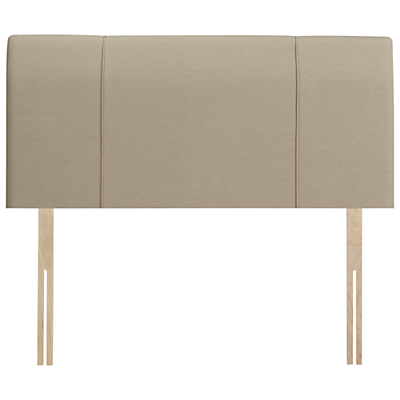 John Lewis Natural Collection Buckingham Strutted Headboard, King Size, Pebble