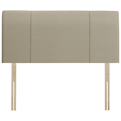 John Lewis Natural Collection Buckingham Strutted Headboard, Double, Pebble