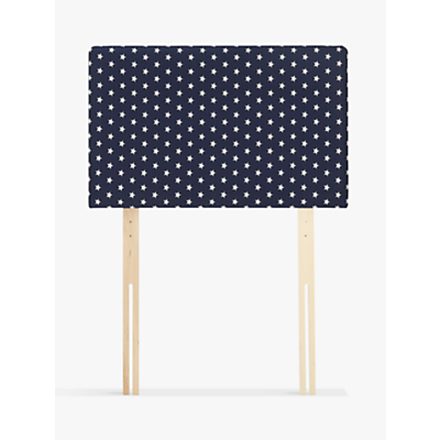 John Lewis Star Print Square Strutted Headboard, Single