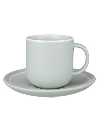 John Lewis & Partners Puritan Espresso Cup and Saucer, Mint