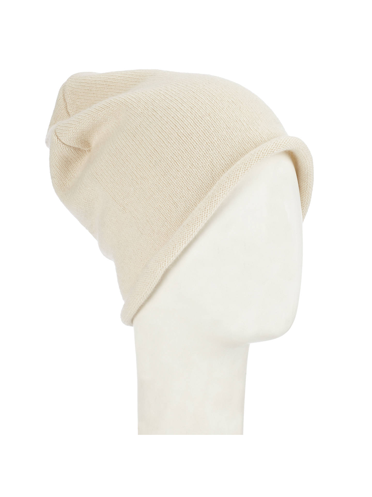 284351f27 John Lewis Made in Italy Cashmere Roll Beanie Hat at John Lewis ...
