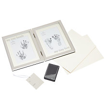 Buy John Lewis Baby My Tiny Hands and Feet Ink Frame, Silver Online at johnlewis.com