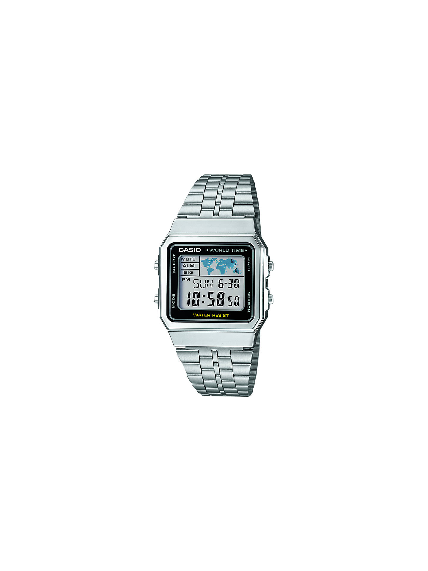 Twitter Instag Casio Mens Digital Gotteamdesigns Edifice Era 100d 1a4 Buycasio A500wea 1ef Stainless Steel Bracelet Strap Watch Silver Online At Johnlewis