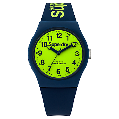 Product photo of Superdry unisex urban silicone strap watch