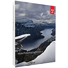 Buy Adobe Photoshop Lightroom 6, Creative Photo Management and Editing Software for Mac & PC Online at johnlewis.com