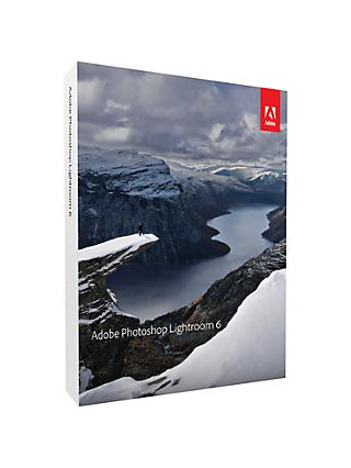 Adobe Photoshop Lightroom 6, Creative Photo Management and Editing Software for Mac & PC