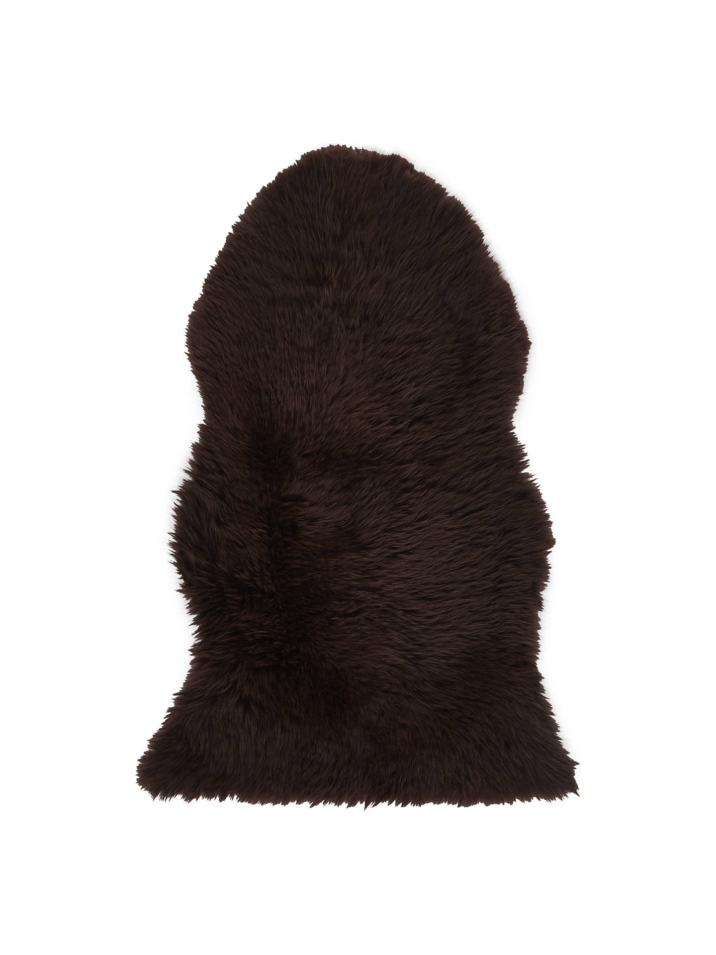John Lewis Single Luxury Sheepskin Chocolate Online At Johnlewis Com
