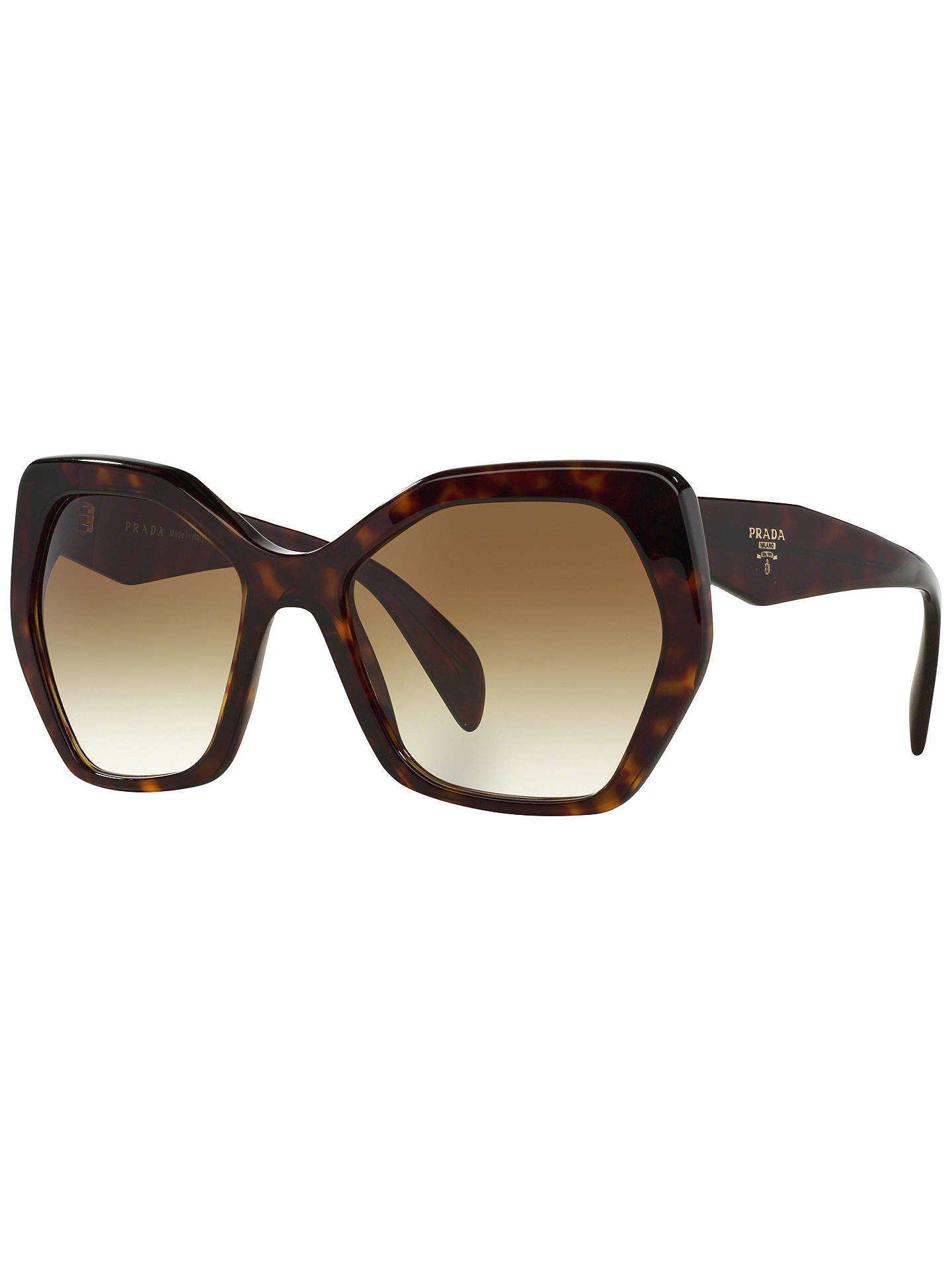 Prada PR16RS Irregular Framed Sunglasses at John Lewis & Partners