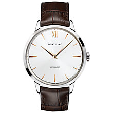 Buy Montblanc 110695 Unisex Heritage Spirit Automatic Alligator Leather Strap Watch, Brown/White Online at johnlewis.com