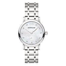 Buy Montblanc 110305 Women's Star Classique Lady Diamond Bracelet Strap Watch, Silver Online at johnlewis.com