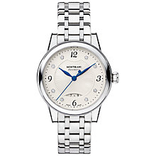 Buy Montblanc 111056 Women's Bohème Date Automatic Bracelet Strap Watch, Silver/Cream Online at johnlewis.com