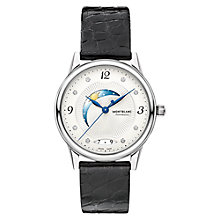 Buy Montblanc 112512 Women's Bohème Day & Night Diamond Alligator Leather Strap Watch, Black/White Online at johnlewis.com