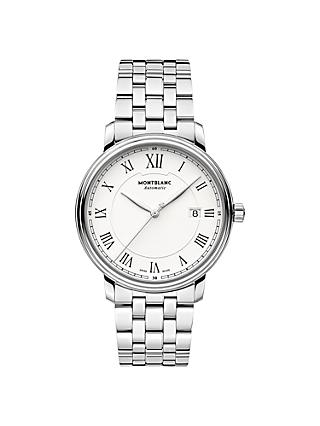 Montblanc 112610 Men's Tradition Automatic Date Bracelet Strap Watch, Silver/White
