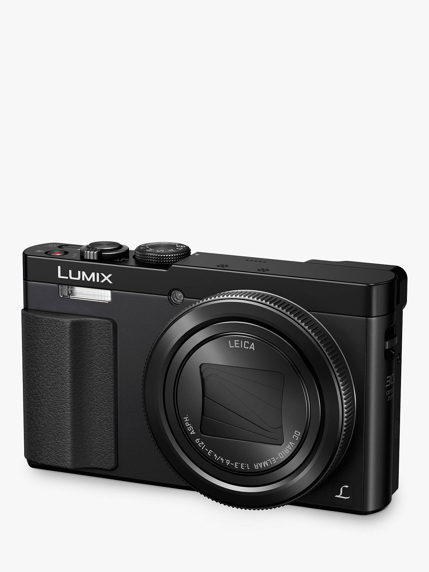 "Buy Panasonic Lumix DMC-TZ70 Digital Camera HD 1080p, 12.1MP, 30x Optical Zoom, NFC, Wi-Fi, Manual Control Ring, EVF, 3"" LCD Screen, Black Online at johnlewis.com"