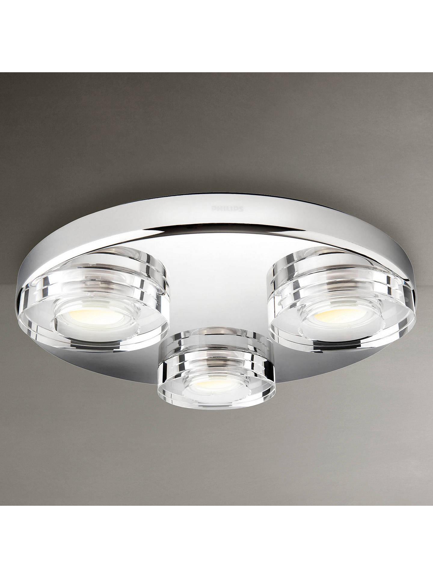 Philips Mira 3 Bulb Led Bathroom Light At John Lewis Partners