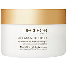 Buy Decléor Aroma Nutrition Nourishing Rich Body Cream, 100ml Online at johnlewis.com