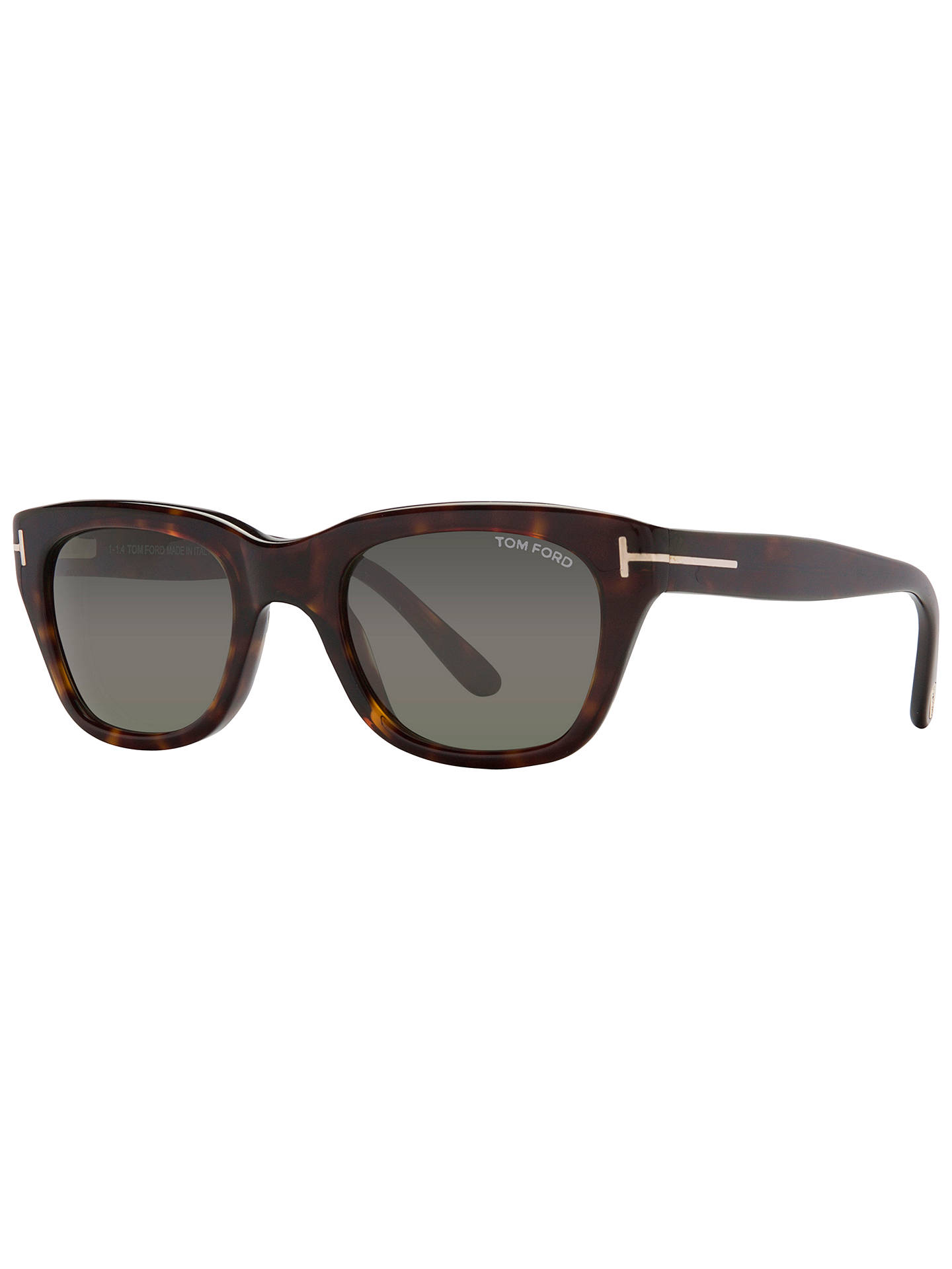 983a0042009 TOM FORD FT0237 Snowdon Hollywood Square Sunglasses at John Lewis ...