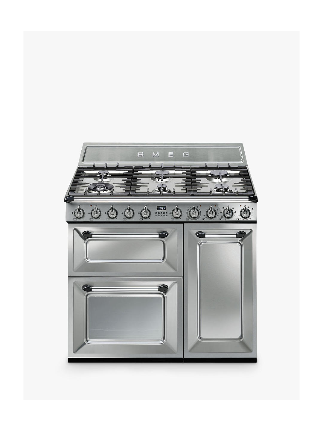 Buy Smeg TR93X Dual Fuel Victoria Range Cooker, Stainless Steel Online at johnlewis.com