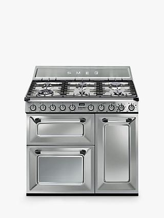 Smeg TR93X Dual Fuel Victoria Range Cooker, Stainless Steel