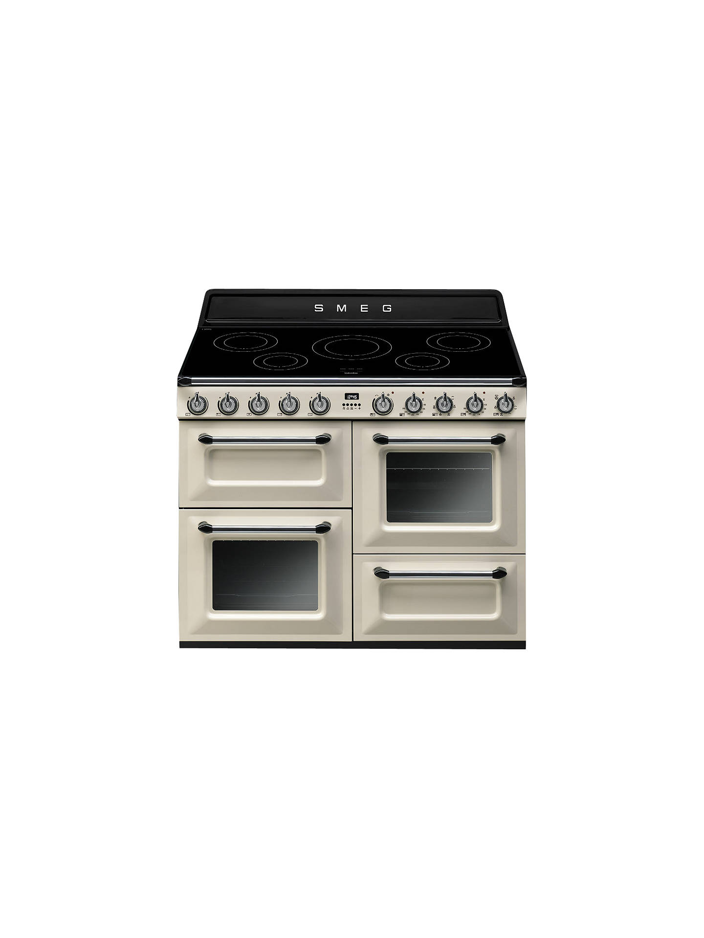 BuySmeg TR4110IP 110cm Victoria Range cooker with Induction Hob, Cream Online at johnlewis.com