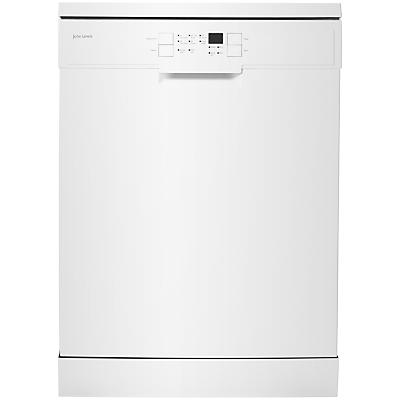 John Lewis JLDWW1203 Freestanding Dishwasher, White